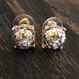 Multi Color Glitter Earrings