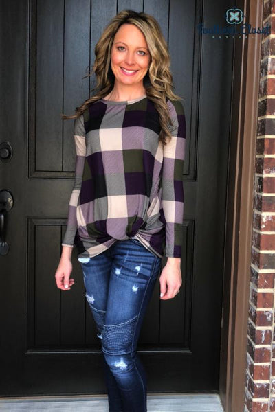 Paige Plaid Top