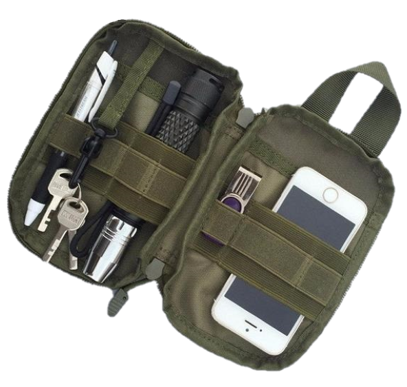 1000D Nylon Tactical Bag Outdoor Molle Military Waist Fanny Pack Mobile Phone Key Mini Tools Waterproof Airsoft Sport Pouch