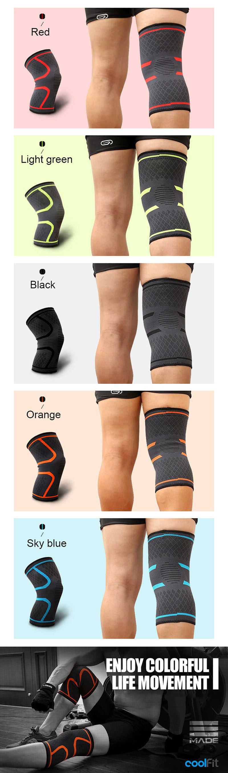Elastic Knee Support Compression Sleeve