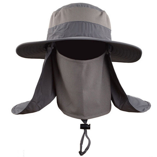 Outdoor Men Women Large Round Brim Sun Block Quick Drying Fishing Hats Summer Sun Cap For Travel Mountain Climbing Bucket Hat