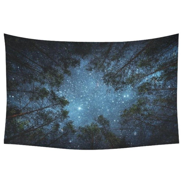 "We're bringing a piece of the outdoors inside with our ""Nordic Forrest"" tapestry!"