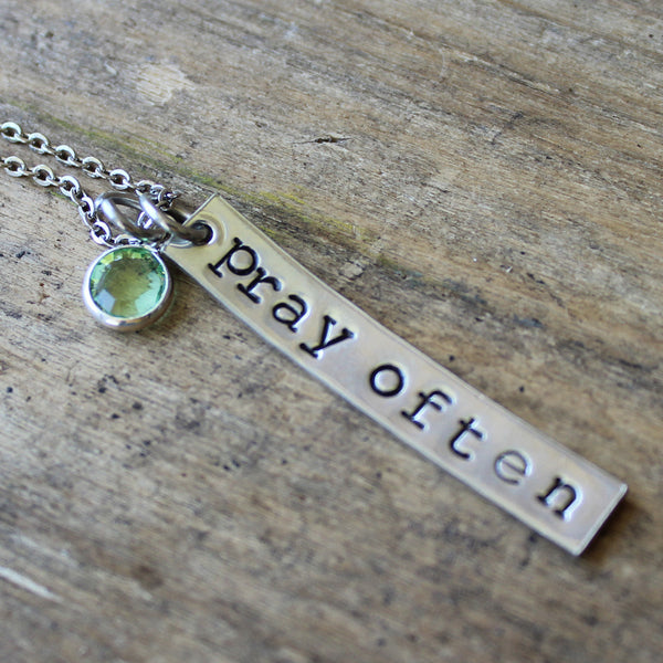 Religious Gift, Religious Necklace, Pray Often, Christian Gift, Graduation Gift, Confirmation Gift, First Communion Gift, Gift For Her