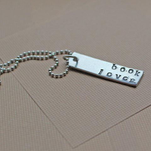Book Lover Necklace - bibliophiles book reading books read bookworm book lover fangirl book nerd bookaholic bibliophile bookish reading
