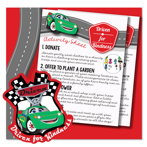 CARS Driven for Kindness Activity Sheet""