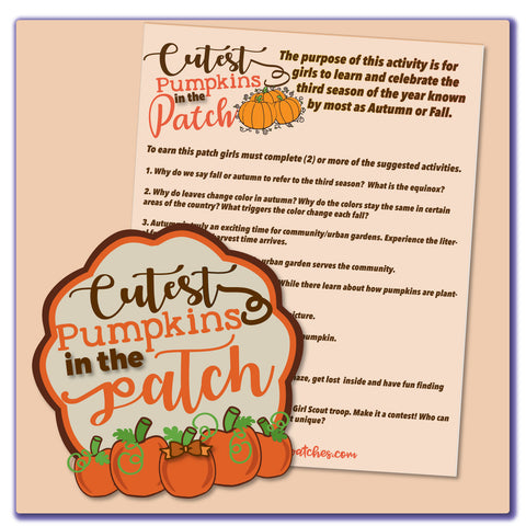 Cutest Pumpkins in the Patch Activity Sheet