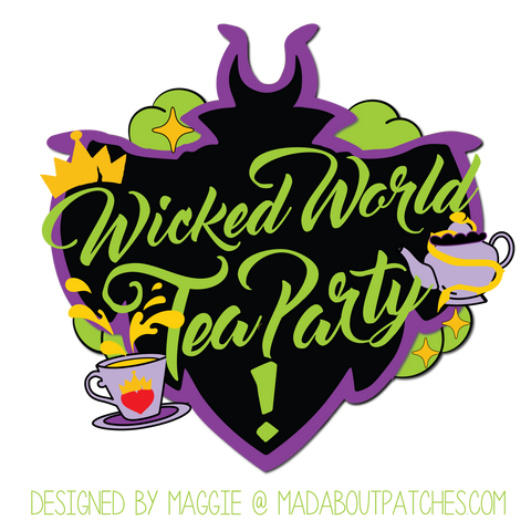 Wicked World Tea Party Custom Patch