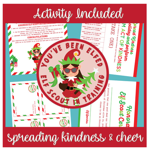 Elf Scout On A Mission Patch and Free Activity Sheet