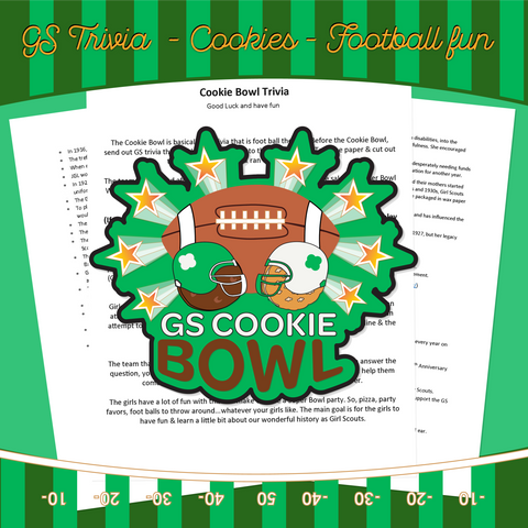GS COOKIE BOWL GS TRIVIA ACTIVITY SHEET