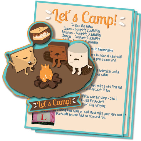 -Let's Camp Patch Activity Sheet