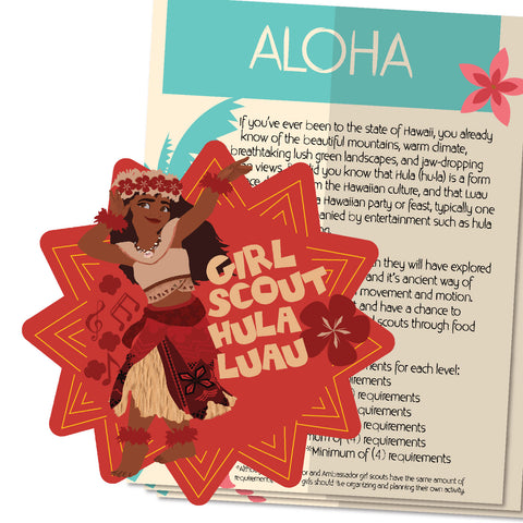 -Moana's Girl Scout Hula Luau Patch Activity Sheet
