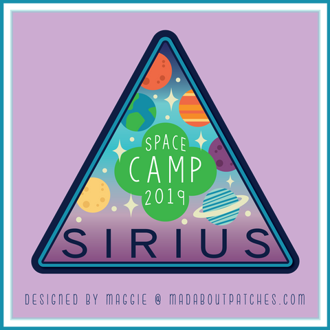 Sirius Space Camp Custom Patches
