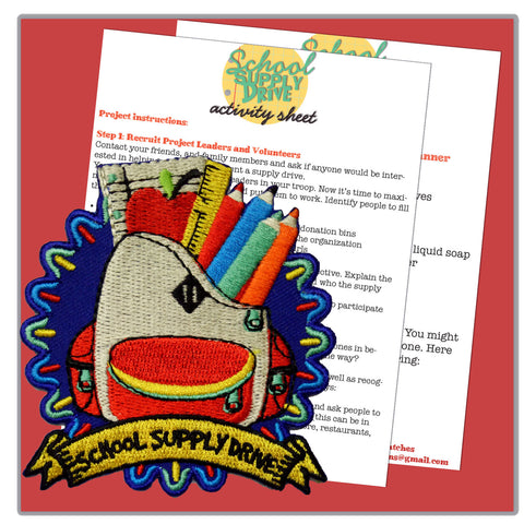 School Supply Drive Activity Sheet
