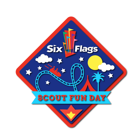 Six Flags Scout Day Custom Patch