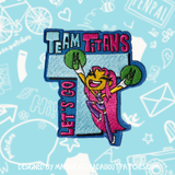 "Teen Titan Inspired Scout Movie Patch ""Let's Go Team Titans"""