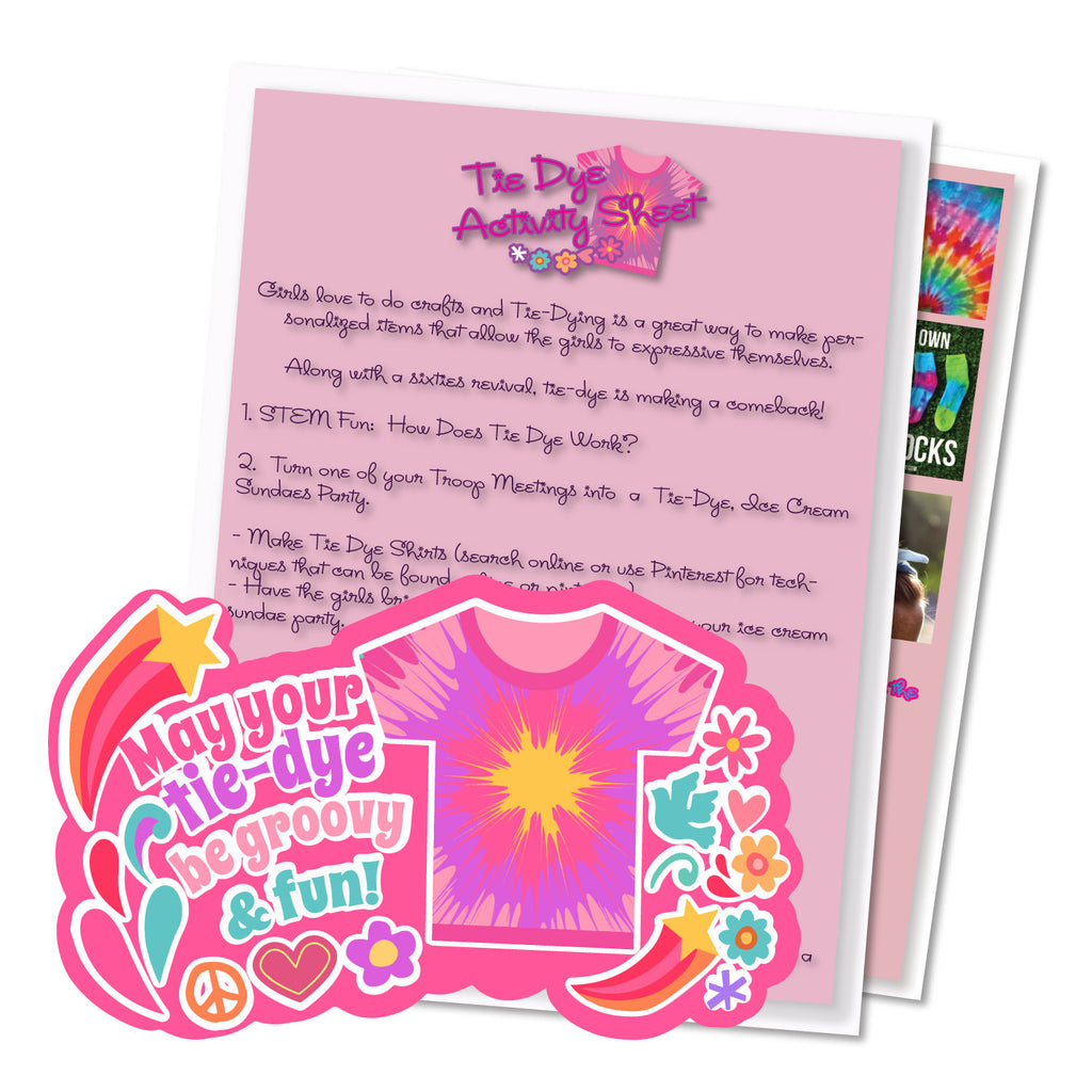 d6539e2f3aec May Your Tie-Dye Be Groovy and Fun Activity Sheet – Mad About Patches
