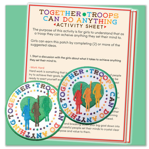 Together Troops Can Do Anything Activity Sheet