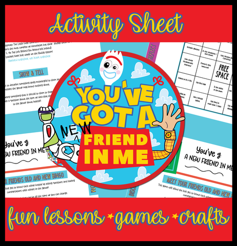 "You've Got A ""NEW"" Friend In Me Activity Sheet"