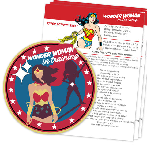 Wonder Woman in Training Patch Activity Sheet