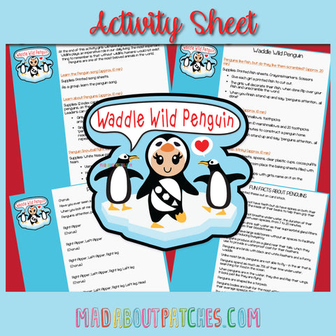 Waddle Wild Penguin Activity Sheet