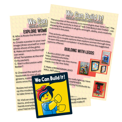We Can Build It Lego Activity Sheet
