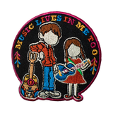 "Coco Inspired Movie Patch ""Music Lives in Me Too"""