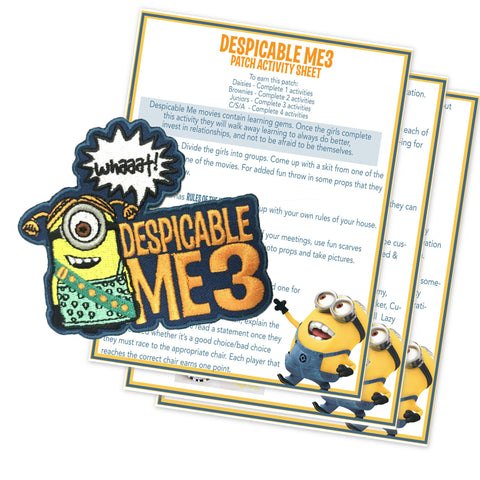 Despicable Me 3 Movie Patch Activity Sheet