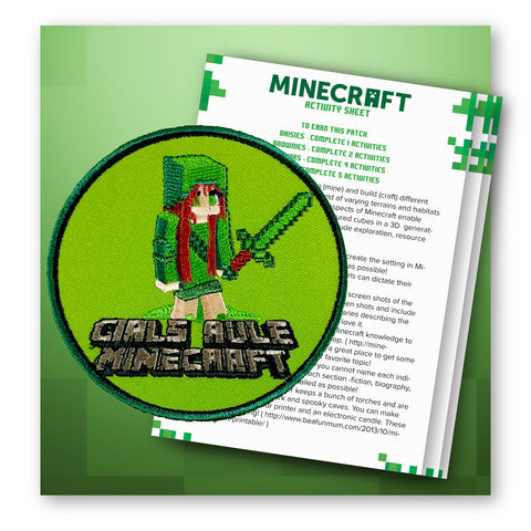 GIRLS RULE PATCH ACTIVITY SHEET