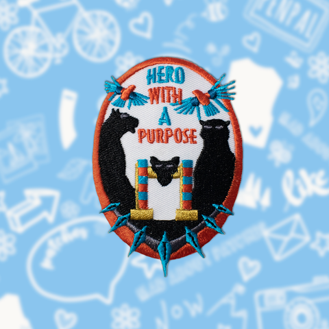 "Black Panther Inspired Patch ""Hero With A Purpose"""
