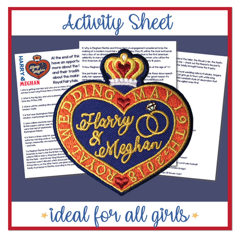 Harry and Meghan Royal Wedding inspired Scout patch