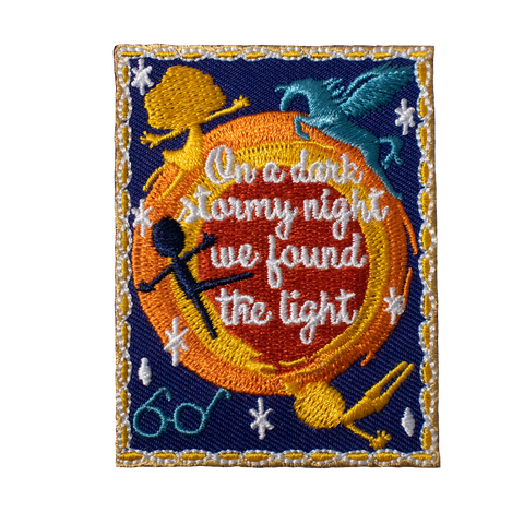 "Wrinkle in Time inspired Patch ""On a dark stormy night we found the light"""