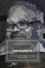 Abhalmaya : The largest portrait quilt I've made (till now)