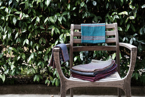 Eclipse Tea Towel: Navy Twill Stripe