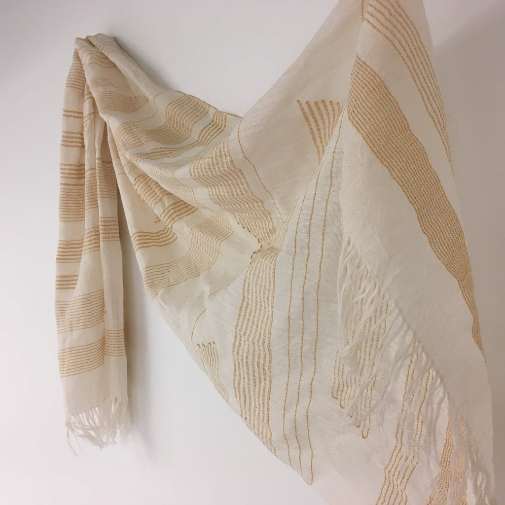 Yellow Gold Glimmer Stripe Shawl