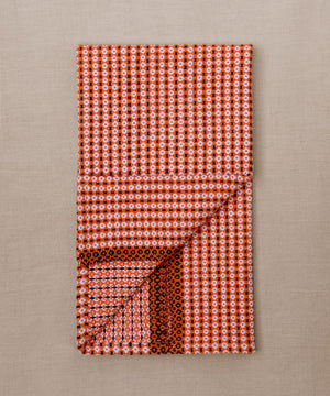 orange blue and white handwoven towel