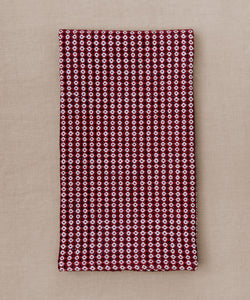 red blue and white handwoven towel