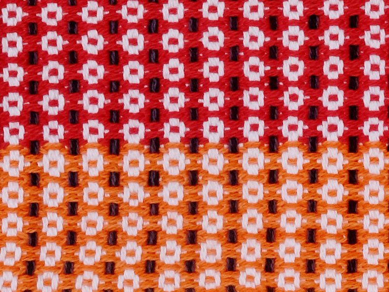 Eclipse Tea Towel • Red White Orange Flower