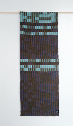 Geo Maze Table Runner: Denim/Blue