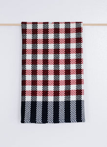 Check Tea Towel • Red/White/Navy