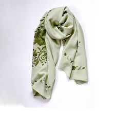 Load image into Gallery viewer, Embrodered Silk Scarf