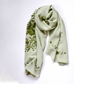 Embrodered Silk Scarf