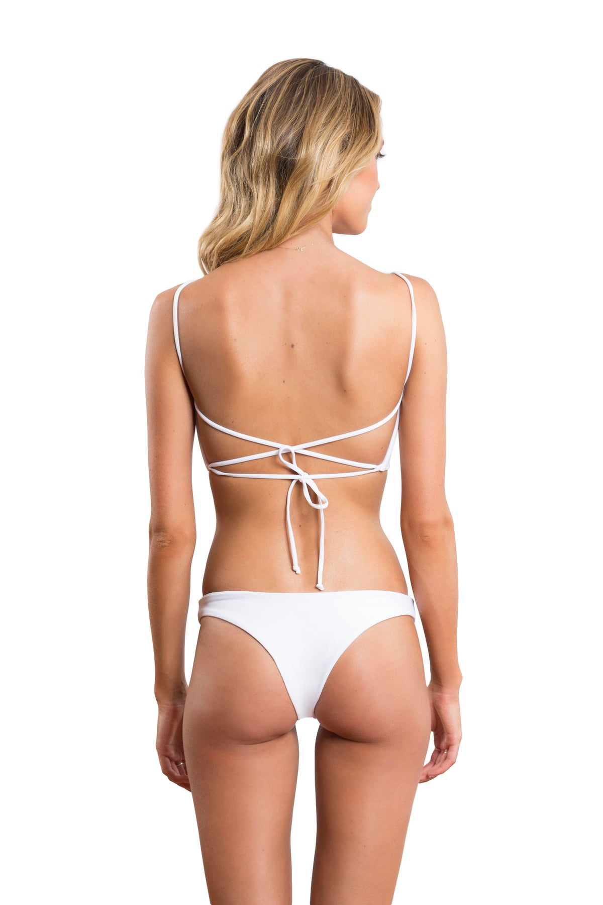Ruby Brownless Anika Swim White Isabella Top Blanc