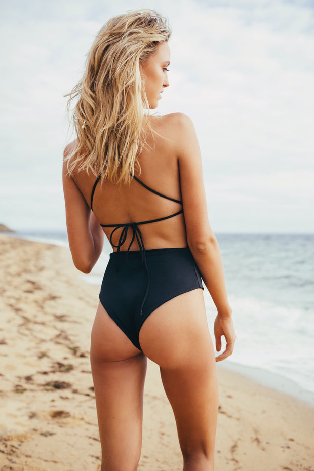 Ruby Brownless Anika Swim Black Bridget One Piece Noir
