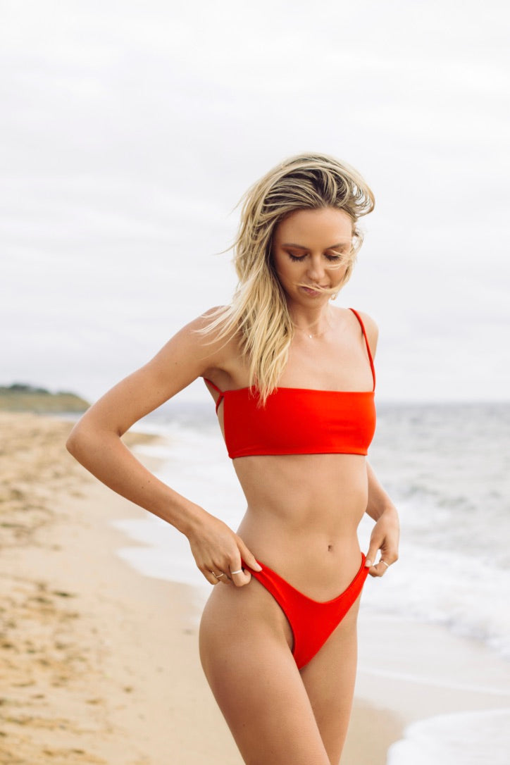 Ruby Brownless Anika Swim Red Hattie Bottoms Rose