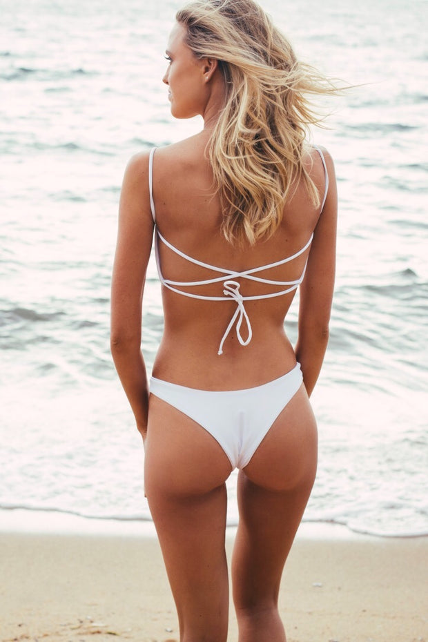 Ruby Brownless Anika Swim White Hattie Bottoms Blanc