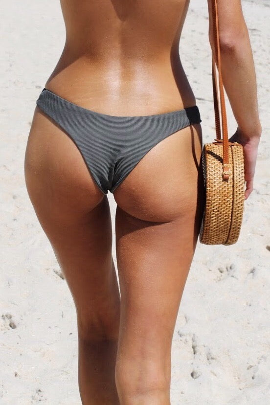 Anika Swim Annie Knight Khaki Grey Positano Bottoms Stone