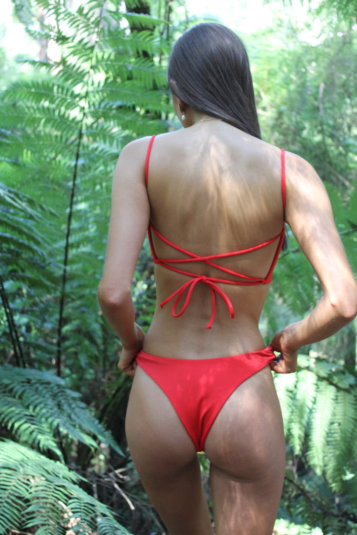 Natalie Popovic Anika Swim Red Hattie Bottoms Rose