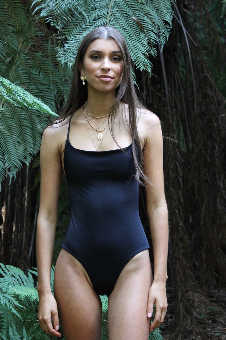 Natalie Popovic Anika Swim Black Bridget One Piece Noir