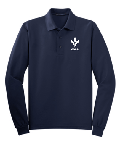 CSCA Adult Long Sleeve Embroidered Polo Navy