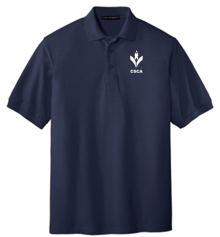 CSCA Adult Embriordered Polo Navy
